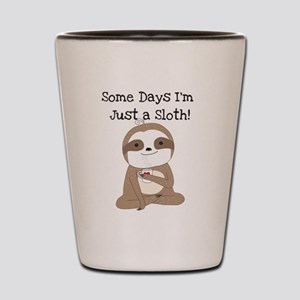 Cute Just a Sloth Shot Glass