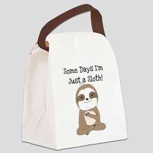 Cute Just a Sloth Canvas Lunch Bag