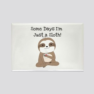 Cute Just A Sloth Rectangle Magnet Magnets