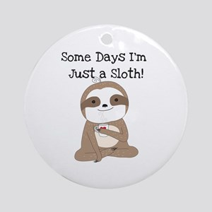 Cute Just a Sloth Round Ornament