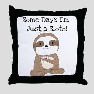 Cute Just a Sloth Throw Pillow