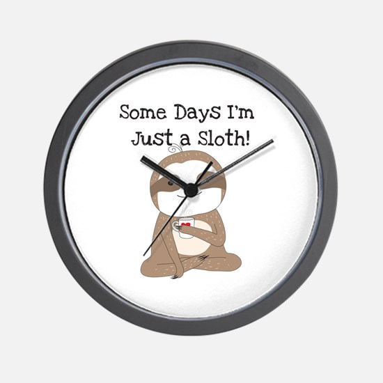 Cute Just a Sloth Wall Clock