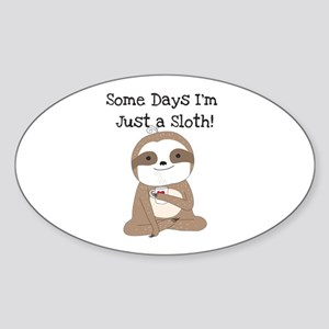 Cute Just a Sloth Sticker (Oval)