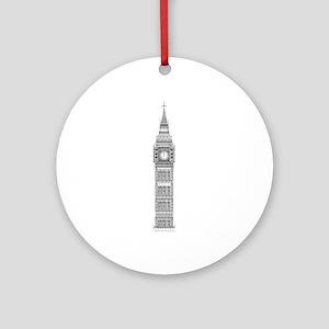 Big Ben at Midnight Round Ornament