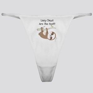 Animals Sloth Lazy Days Classic Thong