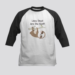 Animals Sloth Lazy Days Kids Baseball Jersey