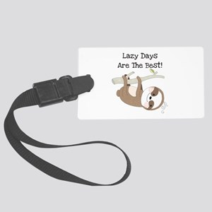 Animals Sloth Lazy Days Large Luggage Tag
