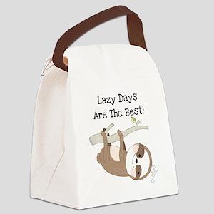 Animals Sloth Lazy Days Canvas Lunch Bag