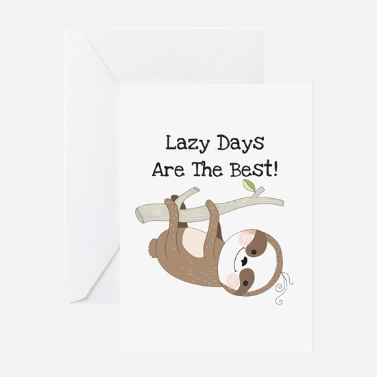 Animals Sloth Lazy Days Greeting Card