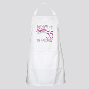 55th Birthday Gifts BBQ Apron