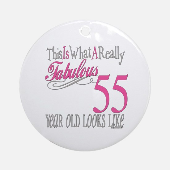 55th Birthday Gifts Ornament (Round)