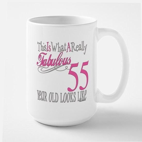 55th Birthday Gifts Large Mug