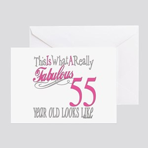 55th Birthday Gifts Greeting Card