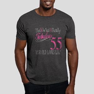 55th Birthday Gifts Dark T-Shirt
