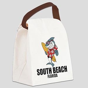 South Beach, Florida Canvas Lunch Bag