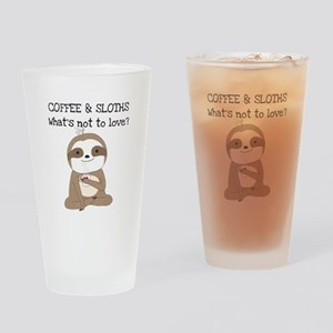 Coffee and Sloths Drinking Glass