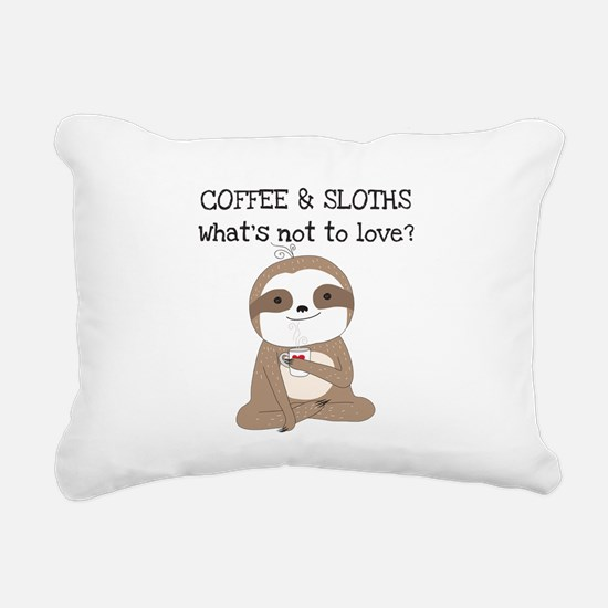 Coffee and Sloths Rectangular Canvas Pillow