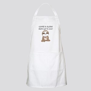 Coffee and Sloths Apron