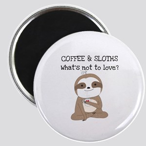 Coffee and Sloths Magnet