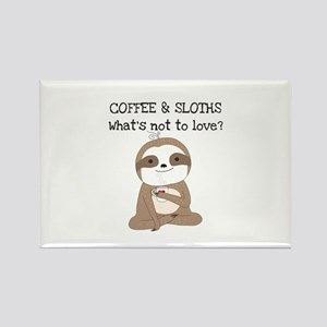Coffee and Sloths Rectangle Magnet