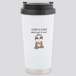 Coffee and Sloths Stainless Steel Travel Mug