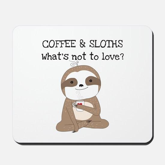 Coffee and Sloths Mousepad