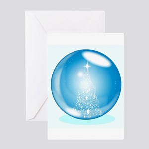 Snowing Ball Greeting Cards