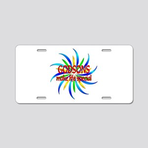 Godsons Make Life Special Aluminum License Plate