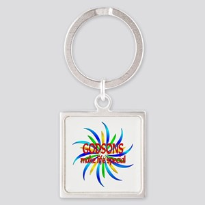Godsons Make Life Special Square Keychain