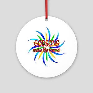 Godsons Make Life Special Round Ornament