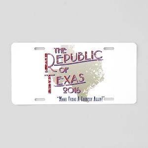 The Republic of Texas 2016 Aluminum License Plate