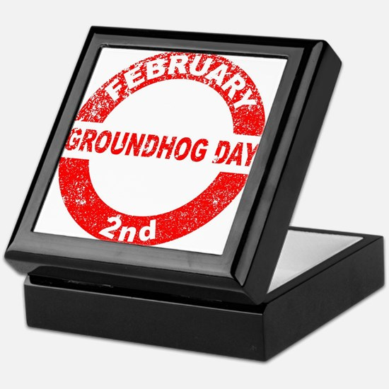 Groundhog Day Stamp Keepsake Box
