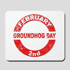 Groundhog Day Stamp Mousepad