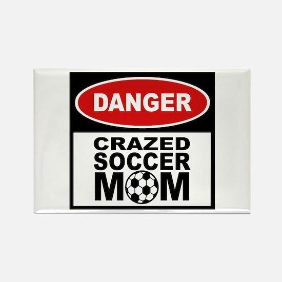 Crazed Soccer Mom Rectangle Magnet