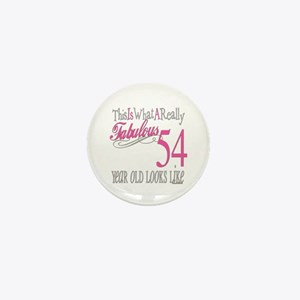 54th Birthday Gifts Mini Button