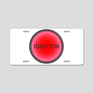 Ignition Button Aluminum License Plate