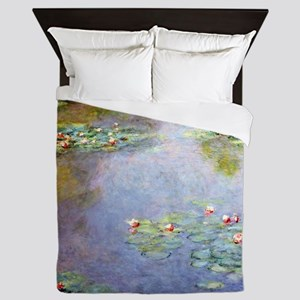 Water lilies by Monet Queen Duvet