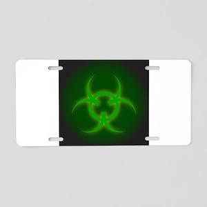 Bio Hazard Sign Aluminum License Plate