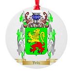 Veliz Round Ornament