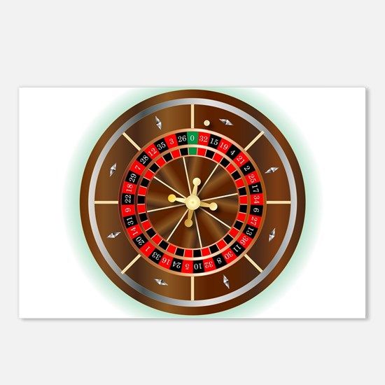 Roulette Wheel Postcards (Package of 8)
