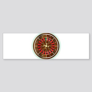 Roulette Wheel Bumper Sticker