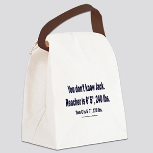 You Don't Know Jack Canvas Lunch Bag