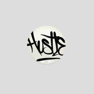 Hustle Typography Mini Button