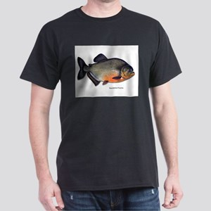 Red-Bellied Piranha Fish Ash Grey T-Shirt