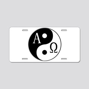 Begining to End Aluminum License Plate