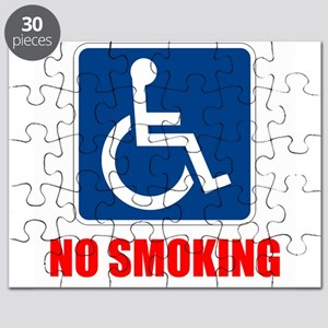 No Smoking Handicapped Disabled Puzzle