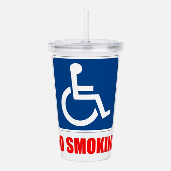 No Smoking Handicapped Disabled Acrylic Double-wal