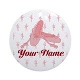 Personalized pointe shoe Round Ornaments