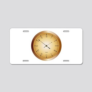Office Clock Aluminum License Plate
