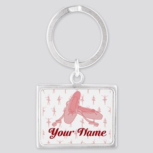 Personalized Pink Ballet Slippers Ballerina Keycha
